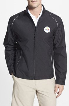 Cutter & Buck Men's Big & Tall Pittsburgh Steelers - Beacon Weathertec Wind & Water Resistant Jacket