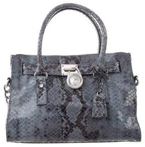 MICHAEL Michael Kors Embossed LeatherSatchel
