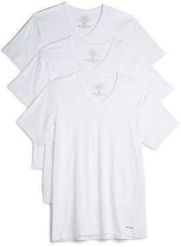 Calvin Klein Underwear 3 Pack Cotton Classic V Neck Tees