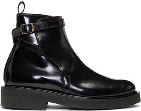 Ami Alexandre Mattiussi Black Strap Boots