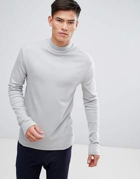 Kiomi High Neck Long Sleeve T-Shirt In Green