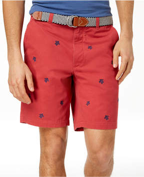 Club Room Men's Turtle Embroidered 9 Shorts, Created for Macy's