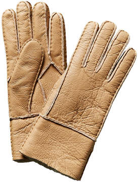 Surell Tan Leather Gloves
