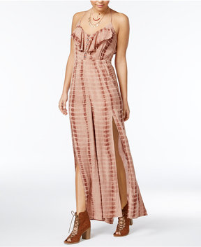 American Rag Juniors' Tie-Dyed Ruffled Jumpsuit, Created for Macy's