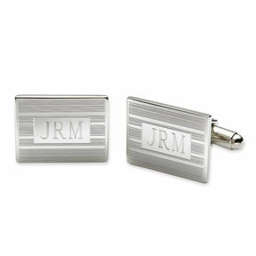 Asstd National Brand Personalized Rectangular Cuff Links