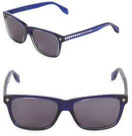 Alexander McQueen 57MM Rectangle Sunglasses