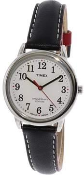 Timex Women's Easy Reader TW2R40200 Silver Leather Analog Quartz Fashion Watch