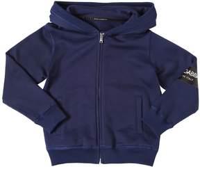 Dolce & Gabbana Logo Tag Hooded Zip-Up Cotton Sweatshirt