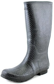 BearPaw Womens Constance Rubber Closed Toe Knee High, Natural Snake, Size 9.0.