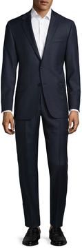 Hickey Freeman Men's Wool Striped Notch Lapel Suit