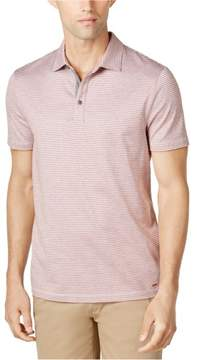 Michael Kors Striped SL Rugby Polo Shirt Red S