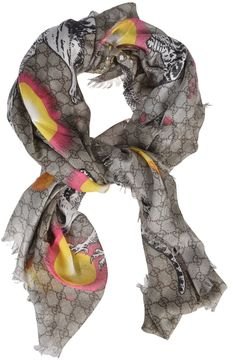 Gucci Space Animals Print Scarf