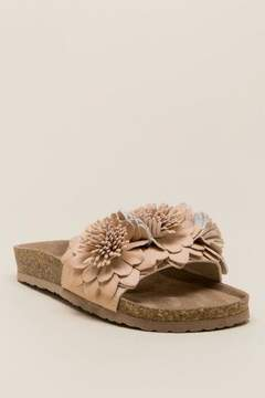 Not Rated Cinnamon Flower Footbed Sandal - Blush