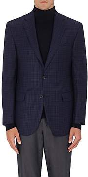 Piattelli MEN'S CHECKED WORSTED WOOL TWO-BUTTON SPORTCOAT