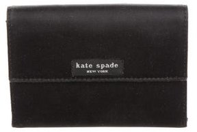 Kate Spade Canvas Compact Wallet - BLACK - STYLE