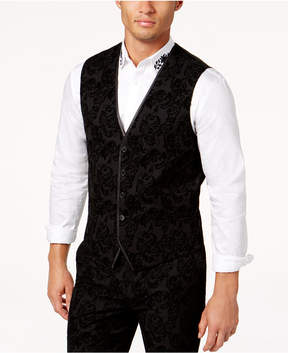 INC International Concepts I.n.c. Men's Slim-Fit Flocked Paisley Vest, Created for Macy's