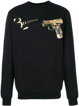 Billionaire gun print sweatshirt