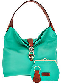 Dooney & Bourke As Is Nylon Hobo with Logo Lock - ONE COLOR - STYLE