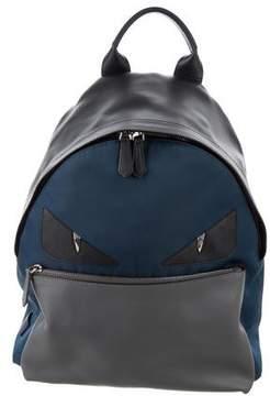 Fendi Leather-Trimmed Monster Backpack