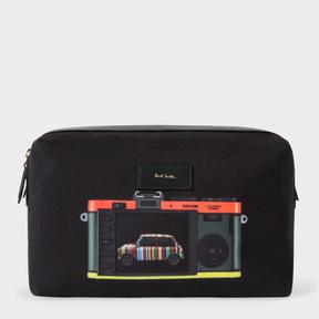 Paul Smith Men's Canvas 'Leica Mini' Print Wash Bag