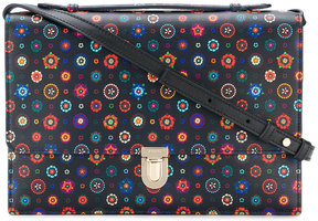 Paul Smith 'Tudor Rose' print 'Concertina' satchel