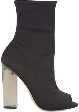 Aldo Jupiter peep toe satin sock boots