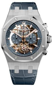 Audemars Piguet Royal Oak Tourbillon Blue Dial Men's Chronograph Watch