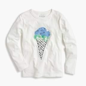 J.Crew Girls' sequin ice cream T-shirt