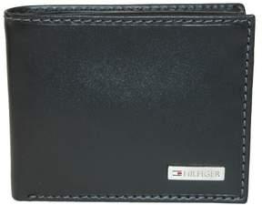 Tommy Hilfiger Men's Leather Fordham Passcase Billfold Wallet, Black