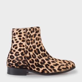Paul Smith Women's Leopard Print Calf Hair 'Brooklyn' Boots