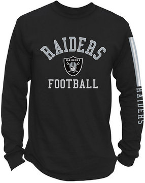 Authentic Nfl Apparel Men's Oakland Raiders Spread Formation Long Sleeve T-Shirt