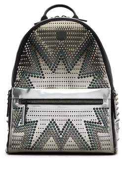 MCM Cyber Glow Studded Convertible Backpack