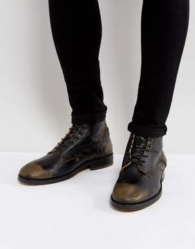 H By Hudson Mckendrick Leather Lace Up Boots