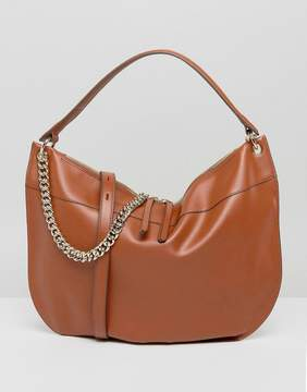 Fiorelli Oversized Hobo Shoulder Bag in Tan with Chain Detail