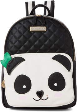 Betsey Johnson Cream & Black Kitch Panda Backpack