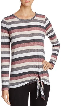 Andrew Marc Performance Stripe Tie-Waist Top