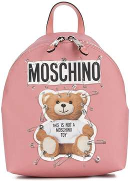 Moschino medium teddy logo backpack