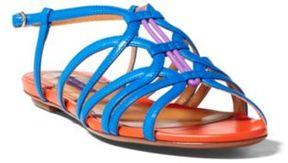 Ralph Lauren Mandel Color-Blocked Sandal Cobalt 36.5