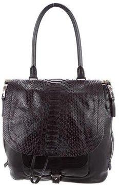 Barbara Bui Python-Trimmed Air Bag