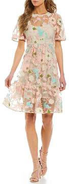 Donna Morgan Floral Embroidered Dress