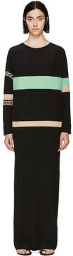 Fausto Puglisi Black Varsity Appliqué Dress