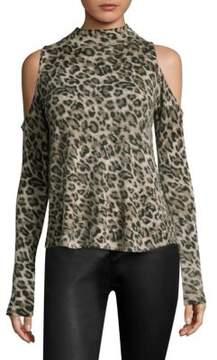 Generation Love Lena Leopard Cashmere Top