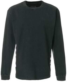 RtA striped detail sweatshirt