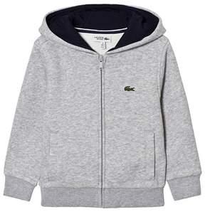 Lacoste Grey Branded Hoodie