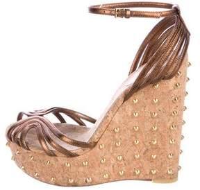 Gucci Cecyl Spike Wedge Sandals
