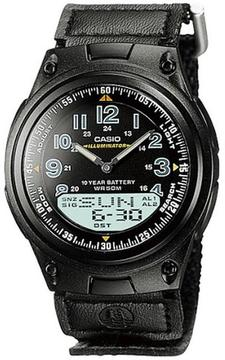 Casio AW-80V-1BV Men's World Time Watch
