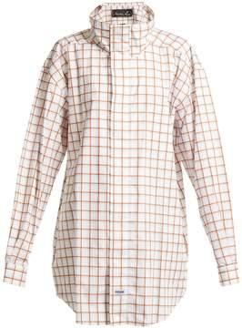 Martine Rose Checked high-neck cotton shirt