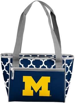 NCAA Logo Brand Michigan Wolverines 16-Can Quatrefoil Cooler Tote