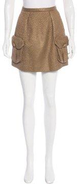 Mulberry Matelassé Mini Skirt