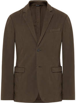 Jil Sander Brown Slim-Fit Stretch-Cotton Twill Blazer